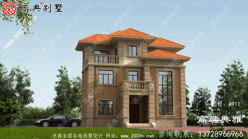 经典欧式三层旋转楼梯别墅布局实用配复式大厅落地窗
