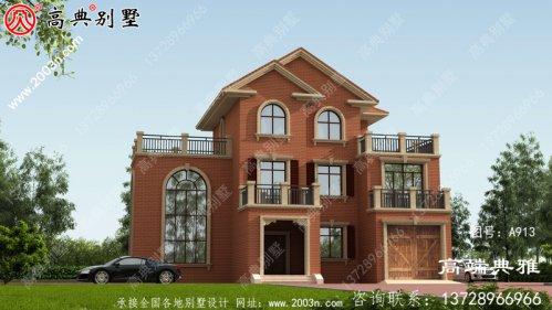 三层别墅住宅设计,客厅高,采光好,还有很多