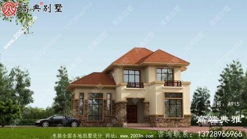 二层小别墅设计图纸,外型设计效果图美观大方