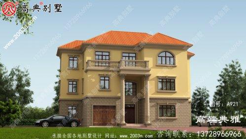 大户型欧式三层住宅设计图包含效