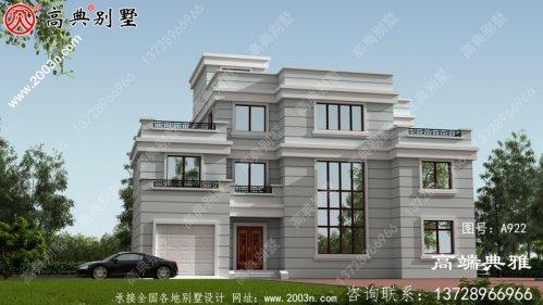 大房型四层别墅设计图,房型經典,外型精美、