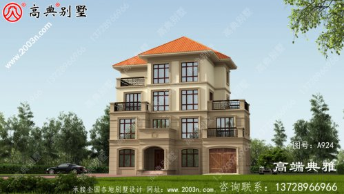 豪华四层别墅设计图,户型经典,外观精致美观