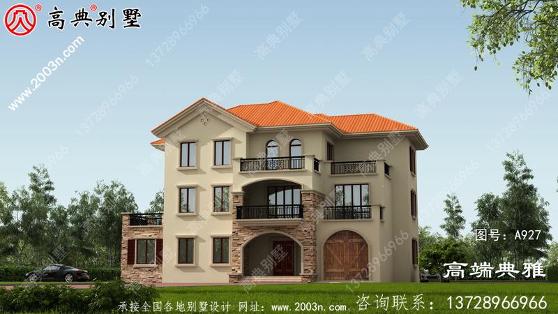 高档三层别墅设计图纸,带车库,设定好几个套间