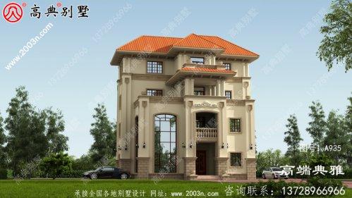 四层新农村建设建造房屋设计图纸,占地面积1