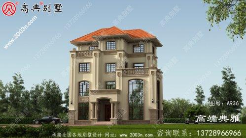 简欧四层复式新农村自建房屋设计图面积162平方