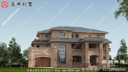欧式三层新农村住宅复式设计,户型温馨美观带