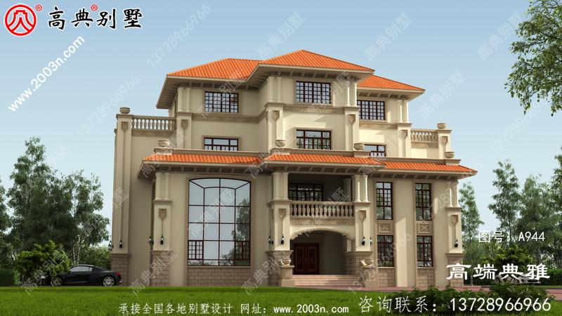 大户型三层欧式住宅的住宅设计图,温馨美丽的户型