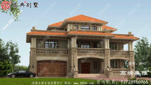 三层别墅设计图,楼内楼层结构,外观整洁,简