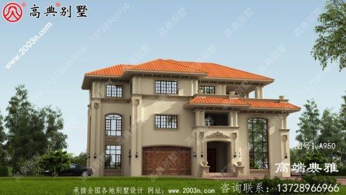 最时尚的231平米三层房屋设计图 ,古香古色又无