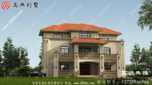 最新设计的280平方米大户型欧式三层住宅简单、