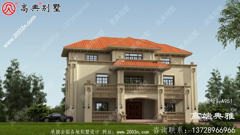 最新设计的280平方米大户型欧式三层住宅简单、优雅、时尚。