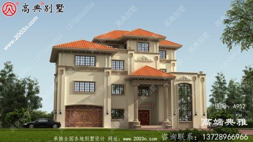290平方米四层房子的设计图,复式设计带车库