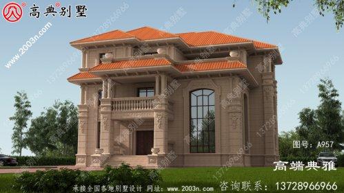 三层独栋别墅设计工程图纸带设计效果图,整套
