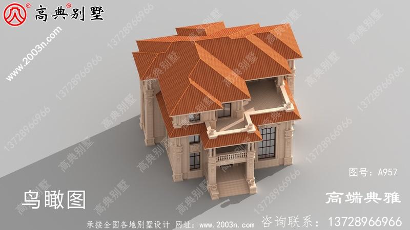 三层独栋别墅设计工程图纸带设计效果图,整套工程施工方案