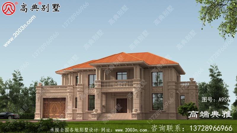 农村别墅设计图大户型房两层别墅,好看、好用