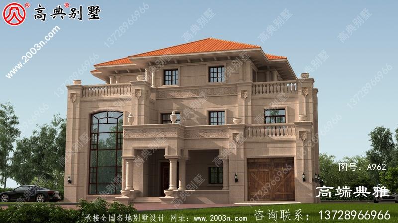 乡村三层楼房设计图,带外型照片,最新款房型