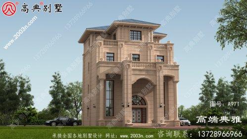 四层独栋别墅房屋设计图及外型设计效果图