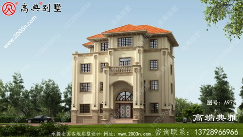 简欧四层大户型别墅建筑设计及外观效果图