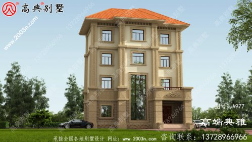 复式三层房屋别墅设计图,占地157平米左右,功