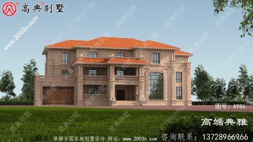 三楼农村小别墅设计图,设计方案一套