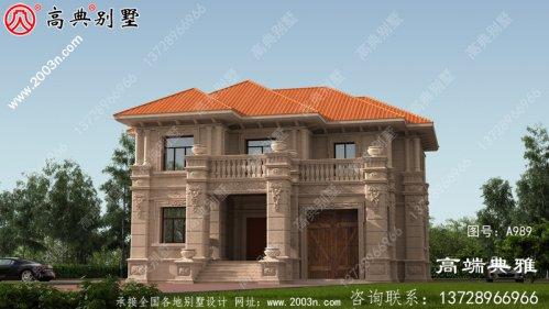 带效果图的方形房屋设计图,推荐农村自建房屋