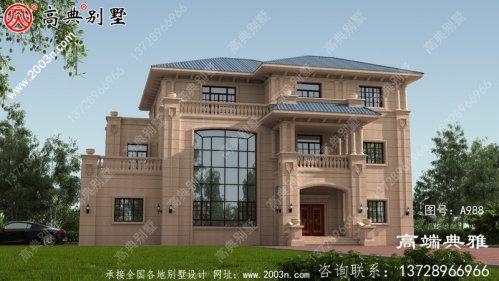 新农村建设三层独栋别墅设计工程