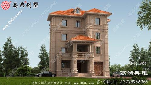 四层复式别墅设计图纸(含效果图)住宅设计图精选