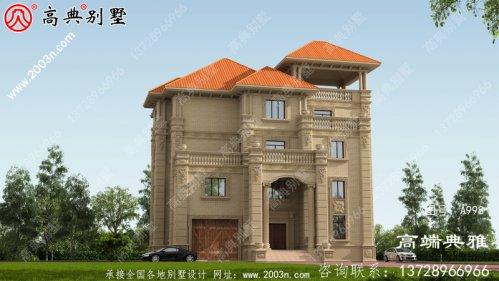 农村豪华四层欧式别墅房屋设计图,带效果图配