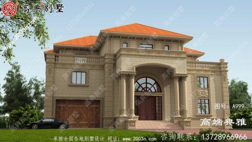 高档欧式古典三层别墅设计图纸,欧式别墅设计