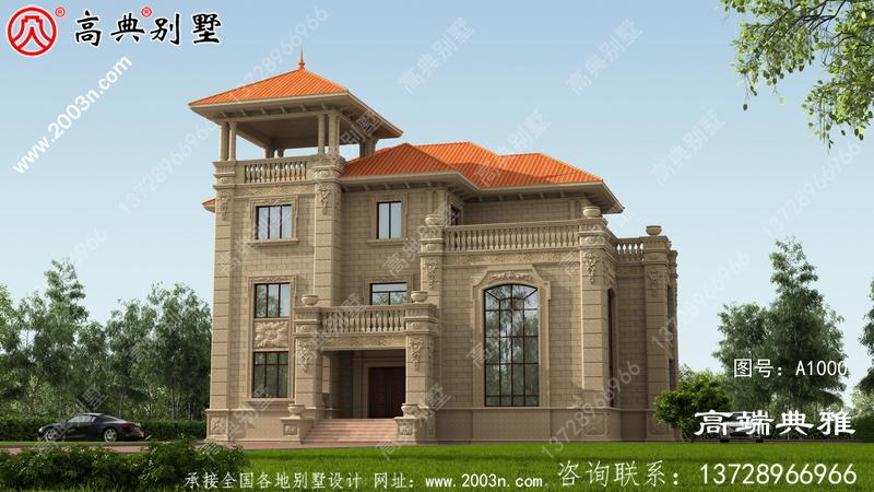 高档欧式三层别墅设计图纸,欧式别墅设计效果图