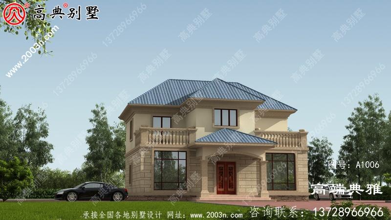 二层小别墅方案设计图,带cad施工图纸和外型设计效果图