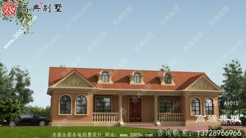 单层小别墅设计图样、平顶设计具有cad设计图和