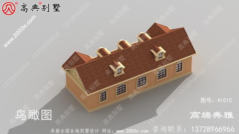 单层小别墅设计图样、平顶设计具有cad设计图和外观效果图