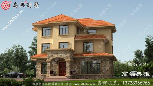 三层新农村住宅设计图纸及设计效果图,三层楼