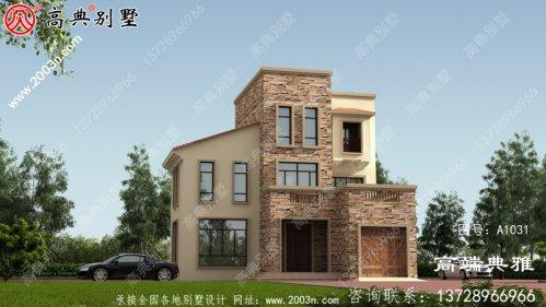 117平方米小户型三层欧式别墅设计图,农村小别