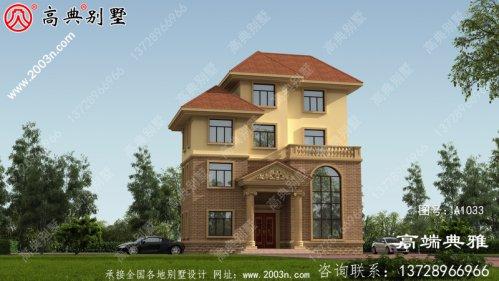 四层欧式别墅建造楼房设计图纸,带设计效果图