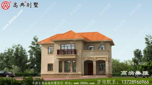 125平米乡村双层房子工程图纸及设计效果图占地
