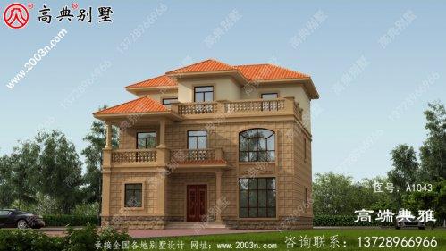预算40万的简易三层别墅房屋设计图,外型简易,