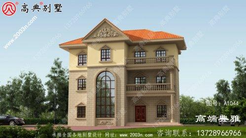 低调简约的别墅三层住宅设计,外