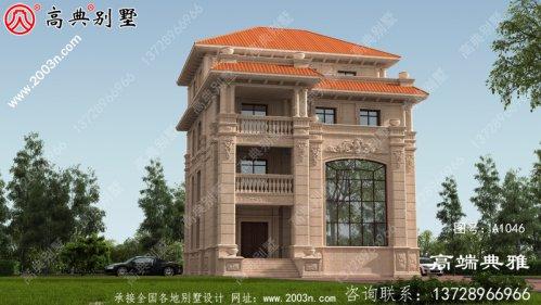 四楼豪华欧洲别墅建筑设计图,有效图和一套施