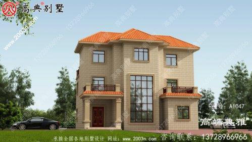 简欧三层别墅设计外观效果图,构建少造价低实