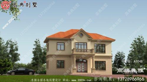 127平方米农村二层住宅的施工图纸和效果图