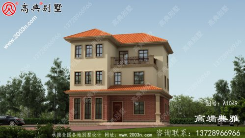 三层别墅住宅建筑设计计划方案图,欧式古典外