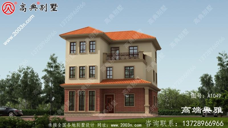 三层别墅住宅建筑设计计划方案图,欧式古典外型设计风格