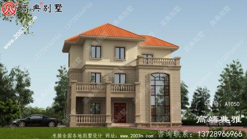 农村自建欧式三层别墅住宅设计方案,欧式外观