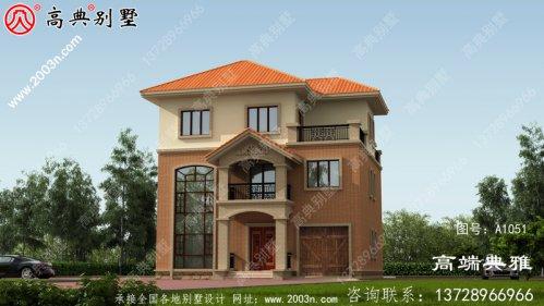 高级豪华三层别墅住宅设计图,欧元外观风格