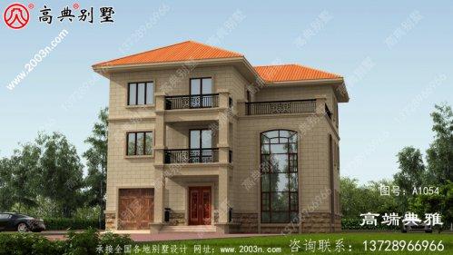 占地187平三层楼房设计图,新农村住宅建造强烈