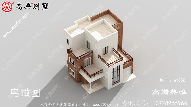 大户型三层现代乡村别墅设计图纸(含外型照片)