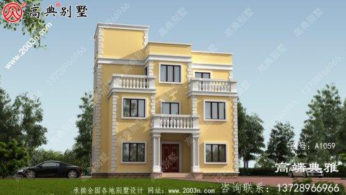 小户型房子四层房屋设计图,农村自建别墅强烈