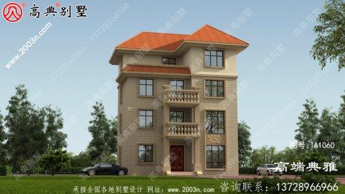 农村自建欧式别墅外观设计效果图推荐四层住宅